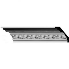 """MLD03X03X04JA 3""""H x 3""""P x 4-1/4""""F x 96""""L,(1-7/8"""" Repeat) Jackson Egg & Dart with Rope Crown Molding"""