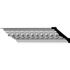 """MLD03X02X04FO 2-1/4""""H x 2-1/2""""P x 3-5/8""""F x 96""""L,(1-5/8"""" Repeat) Foster Running Coin Crown Molding"""