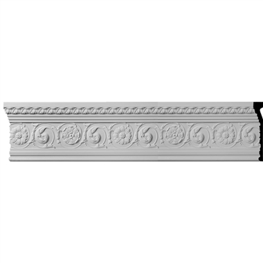 """MLD11X02BE 11-1/4""""H x 1-7/8""""P x 96""""L,(19-1/4"""" Repeat) Bedford with Flowers Molding"""