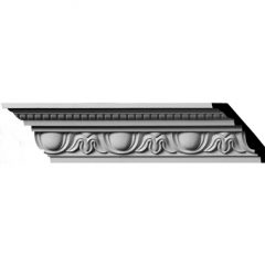 "MLD03X02X04TR 3-1/4""H x 2-3/4""P x 4-3/8""F x 96""L,(3-7/8"" Repeat) Traditional Egg & Dart with Beads Crown Molding"