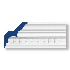 """CL12-99228 CONTRACTOR LENGTH Polyurethane Crown Molding 4-11/16""""x12ft (Similar to AA002)"""