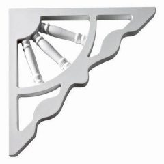 "BKT12X12GP BRACKET, Fypon Gable 12"" H x 1"" W x 12"" Projection"