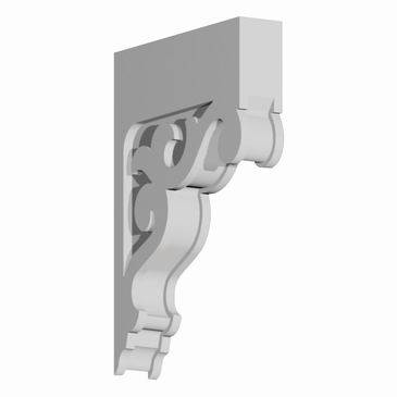 "BKT16X23X3 BRACKET, Fypon 22 21/32"" H x 3-1/2"" W x 16 13/32"" Projection"