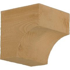 "BKT5X5S RUSTIC BRACKET, Fypon Stainable 5-1/2"" X 5-1/2"" X 5-1/2"""