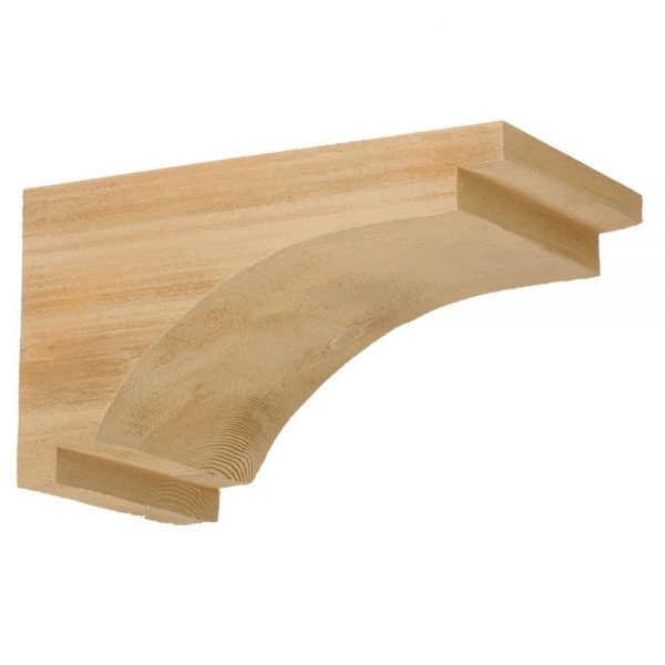 """COR7X13X7S RUSTIC BRACKET, Fypon Stainable 7-1/2"""" W x 13"""" H x 7-1/4"""" P"""