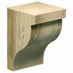 "COROG8X12S RUSTIC Corbel, Fypon Stainable Ogee 7-3/8"" W x 11-3/8"" H x 7-3/8"" P"