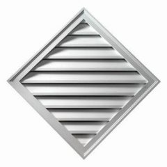 "DLV24X24 DIAMOND LOUVER, Fypon Decorative 24"" x 24"""
