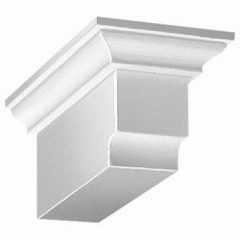"DTLB4X4X9 DENTIL BLOCK, Fypon 4-5/16"" x 3-7/8"" x 9"""