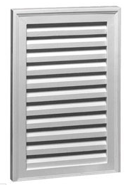 "FLVNS18X24 VERTICAL LOUVER, Fypon Functional 18"" x 24"" W/O Bottom Sill"