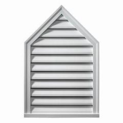 "PLV24X36-12 PEAKED LOUVER, Fypon Decorative 24"" x 36"" W/12/12 Pitch"