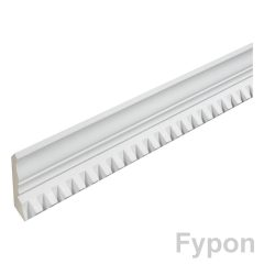 "MLD404-16 MOULDING, Fypon Crown Dentil 2-1/2"" x 3-13/16"" x 16'"