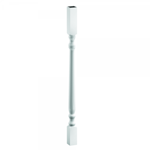 """44043275CS Colonial Spindle (one) (1-1/2""""x1-1/2""""x32-3/4"""") [White]"""