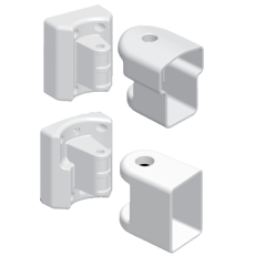 44070DFMBK Multi Angle Bracket Kit for 22.5 to 45 degree applications [WHITE]