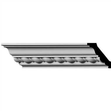 """1-7/8""""H x 1-7/8""""P x 2-3/4""""F x 96""""L, (1"""" Repeat) Classic Roped Crown Mouldings (12 Inch Sample of MLD01X01X02CL)"""