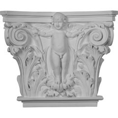 """CAP14X16X04AN 16 3/8""""W x 13 5/8""""H x 3 7/8""""P Angel Onlay Capital (Fits Pilasters up to 10 5/8""""W x 1""""D)"""