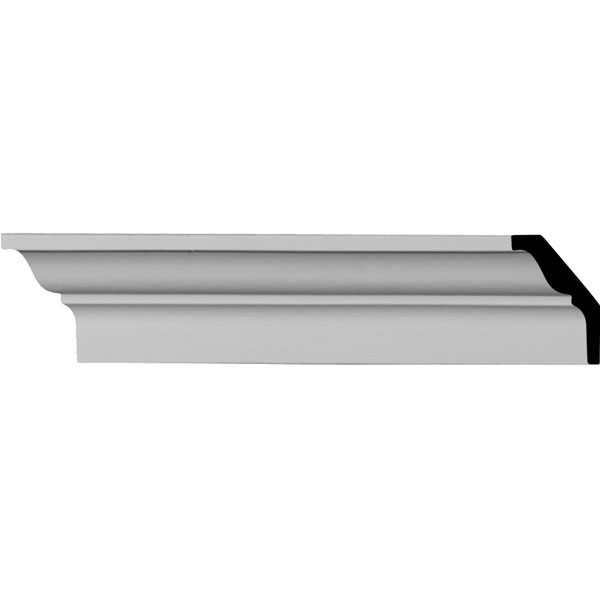 """2 3/8""""H x 1 5/8""""P x 2 7/8""""F x 96 1/8""""L Robin Smooth Crown Moulding (12 Inch Sample of MLD02X02X03RO)"""
