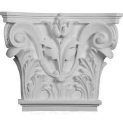 """CAP16X14X04AC 16 1/2""""W x 13 5/8""""H x 3 3/4""""P Acanthus Leaf Pilaster Capital (Fits Pilasters up to 10 3/8 """"W x 3/4""""D)"""
