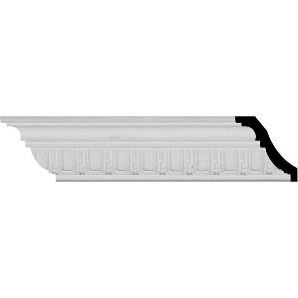 """2 3/4""""H x 2 3/8""""P x 3 5/8""""F x 94 1/2""""L Sequential Crown Moulding (12 Inch Sample of MLD03X02X04SE)"""