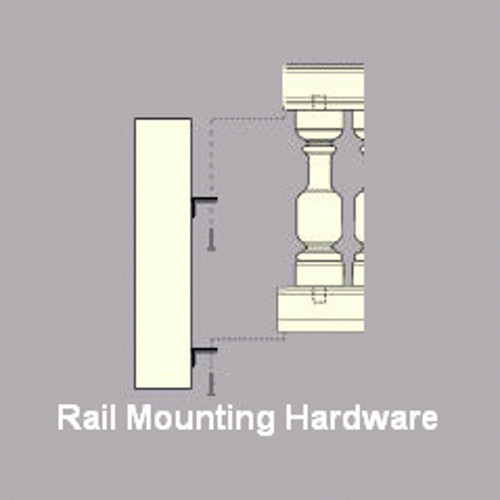 Hardware for Rails (determined by Rail Size by us)