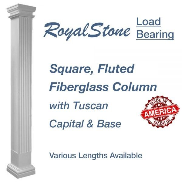 RoyalStone Square Fluted Column